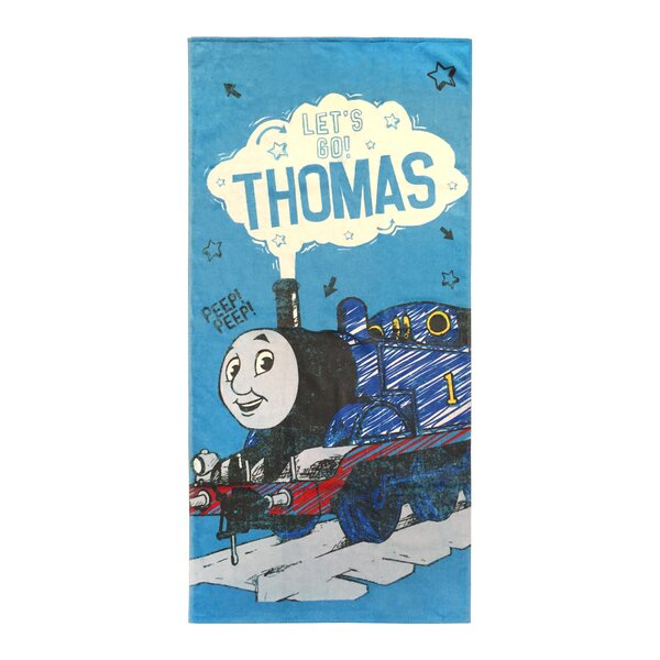 Thomas the Tank Engine Lets Go 100% Cotton Beach Towel by PBS Kids